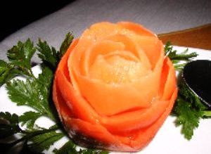 Carrot Rose Garnish